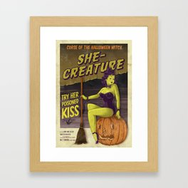Hobo and Sailor. Halloween Witch Framed Art Print