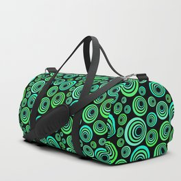 Neon blue and green Duffle Bag