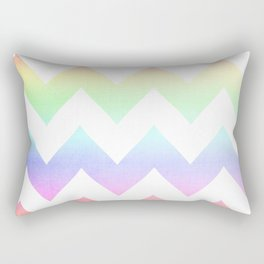 Watercolor Chevrons Rectangular Pillow