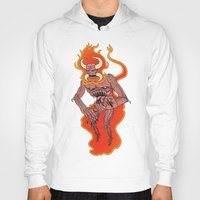 demon Hoodies featuring Demon by Justin McElroy