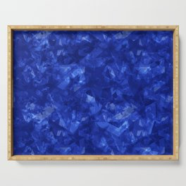 Dark pastel variegated blue stars in the projection. Serving Tray