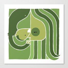 John & Monkey Canvas Print