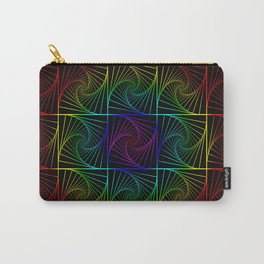 Psychedelic rainbow Carry-All Pouch