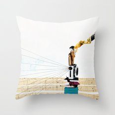 pitying muse Throw Pillow