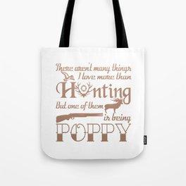 Hunting Poppy Tote Bag