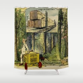 Seeing America First, With the Berry Brothers (1917) Shower Curtain