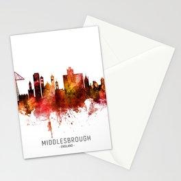 Middlesbrough England Skyline Stationery Cards