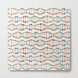 Watercolor DNA Strands Metal Print