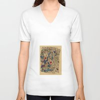 medieval V-neck T-shirts featuring - medieval - by Magdalla Del Fresto
