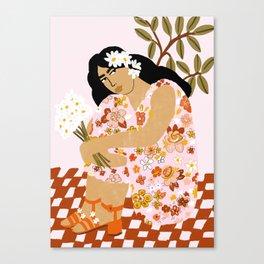 Bohemian Lady Canvas Print