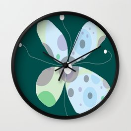 FLOWERY BJÖRK / ORIGINAL DANISH DESIGN bykazandholly Wall Clock