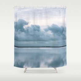 Epic Sky reflection in Iceland - Landscape Photography Shower Curtain