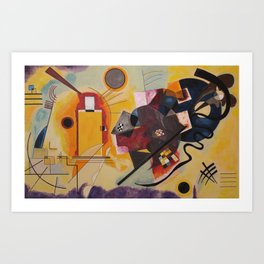Wassily Study Repro yellow red blue 1925  Art Print