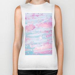 Shine Shimmer Pastel Pink and Blue Modern Biker Tank