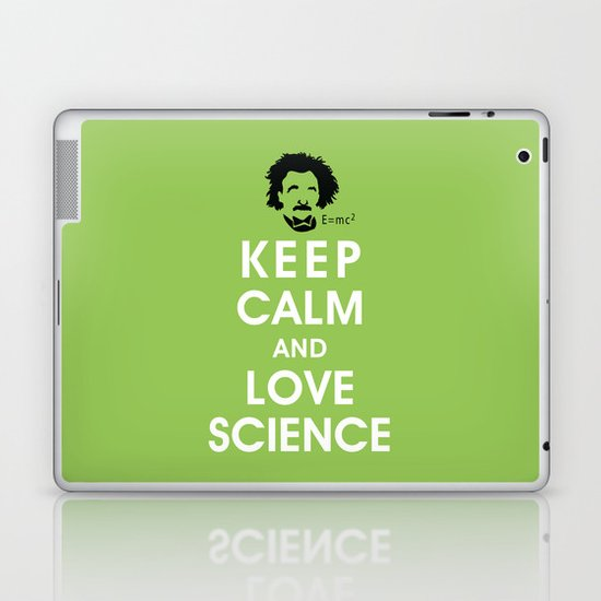 Keep Calm and Love Science Laptop & iPad Skin