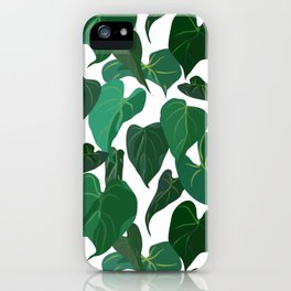 Philodendron Plant | White iPhone Case