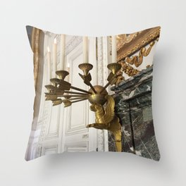 Gilded Nonsense #3: Golden Griffin Throw Pillow