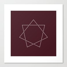 #139 Septagram – Geometry Daily Canvas Print