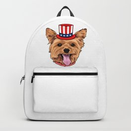 Yorkshire Terrier 4th Of July Independence Day Dog Backpack