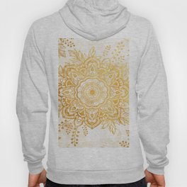Queen Starring of Mandala-Gold Sunflower I Hoody
