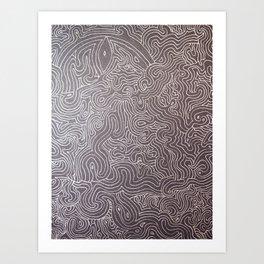 Melting eye Art Print
