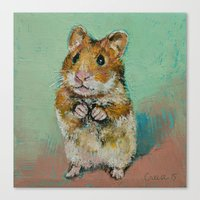 hamster Canvas Prints featuring Hamster by Michael Creese