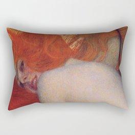 Gustav Klimt, Goldfish, (detail) 1901-1902 Rectangular Pillow