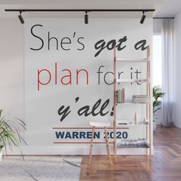 She's got a plan for it y'all! Wall Mural