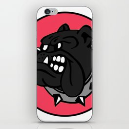 Black Bulldog iPhone Skin