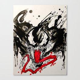 Venom - Splattered Symbiote Canvas Print
