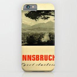 affiche Innsbruck Tyrol Austria Skiing iPhone Case