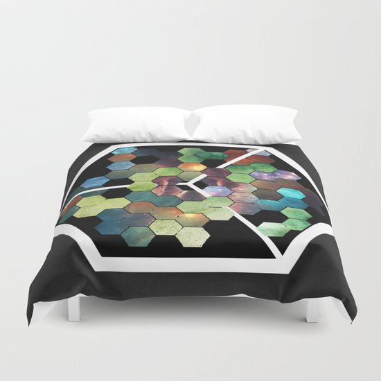 Abstract Geometric  Galaxy Study Duvet Cover