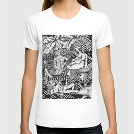 Psychedelic Visions of the Bisexual Shaman Chicks T-shirt