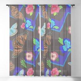 Butterfly Meetup Sheer Curtain
