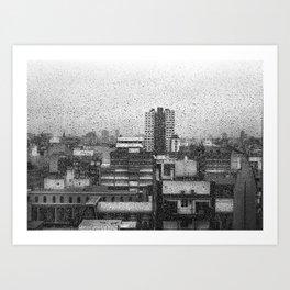 BsAs Lluvia - BUENOS AIRES  Art Print