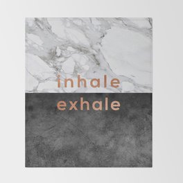Inhale Exhale Copper Throw Blanket