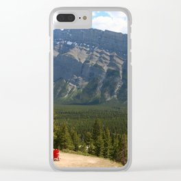 Enjoying The Beautiful View Clear iPhone Case