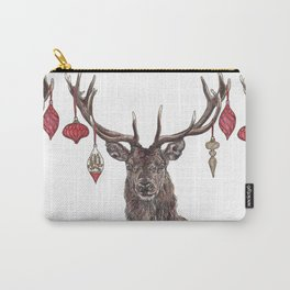 Stag with Baubles Carry-All Pouch