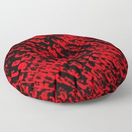Red sublime metal pattern Floor Pillow