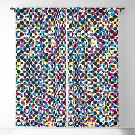 Colorful abstract dot pattern Blackout Curtain