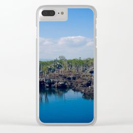 Lava meets the ocean Clear iPhone Case