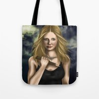 buffy Tote Bags featuring Buffy Summers by Jade Todd