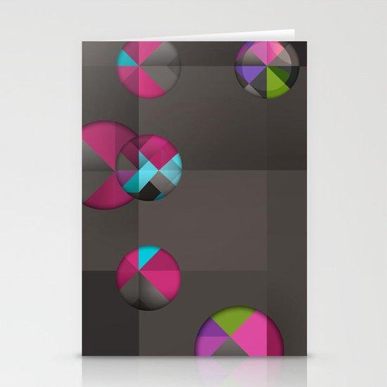 optical illusion black Stationery Cards