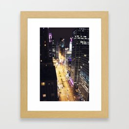 Michigan Ave. Framed Art Print