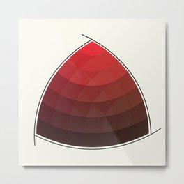 Le Rouge-Orangé (ses diverses nuances combinées avec le noir) Remake (Interpretation), no text Metal Print