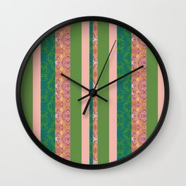 zakiaz bohemian stripe Wall Clock