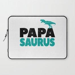Papa Saurus Dad Daddy Dino Dinosaur T-Rex Gift Laptop Sleeve
