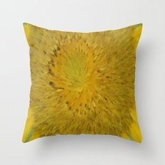 Radial Spray Sunflower series 3 Throw Pillow