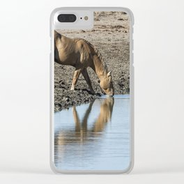 Reflection of a Stallion Clear iPhone Case
