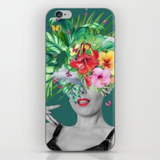 portriat floral iPhone & iPod Skin